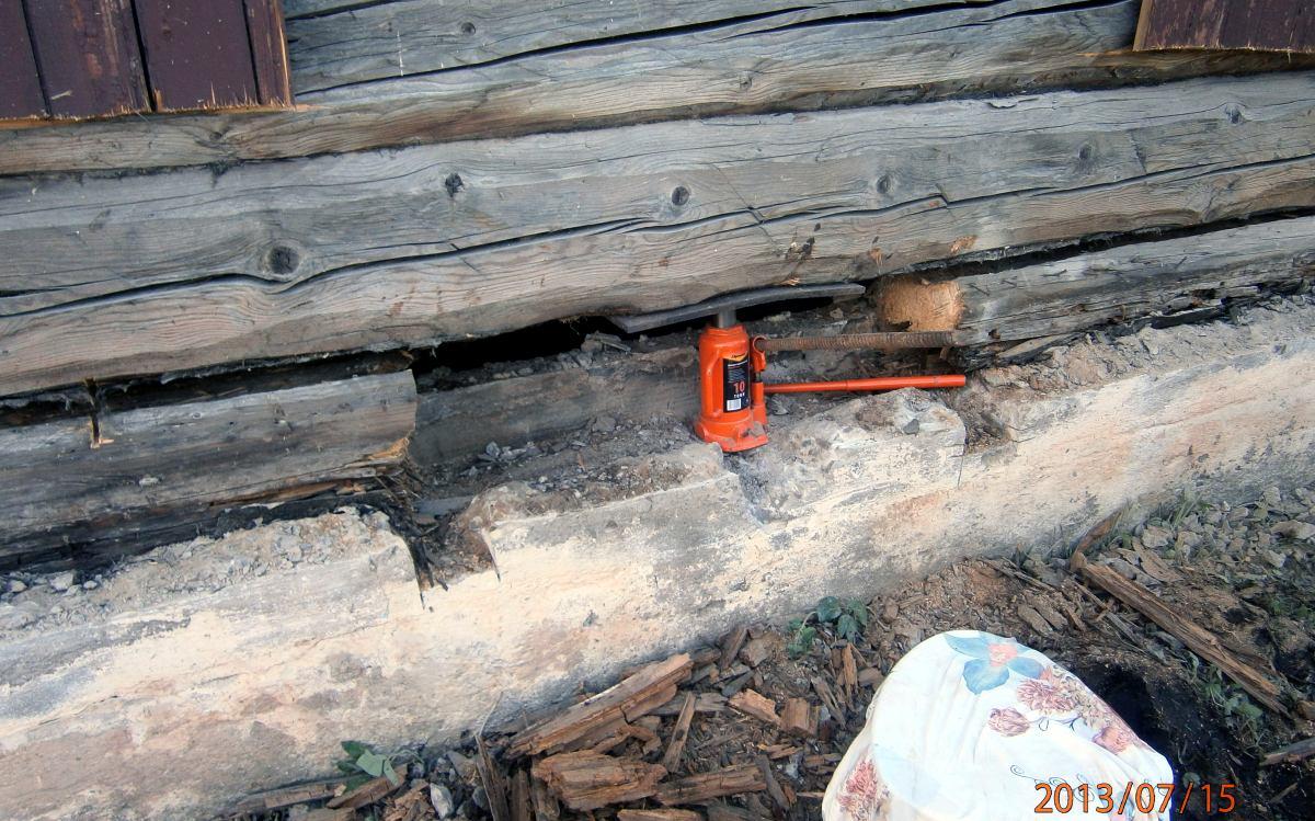 Поднимаем деревянный дом 5